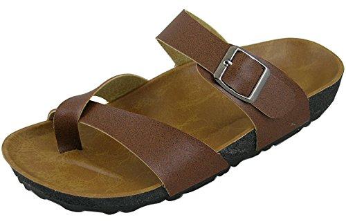 Sandalo Da Scivolo Per Donna Con Chiusura A Cambridge Marrone