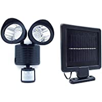 22 LED Adjustable Dual Solar Powered Garage Motion Sensor Security Flood Light