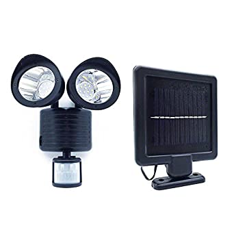 22 led adjustable dual solar powered garage motion sensor security 22 led adjustable dual solar powered garage motion sensor security flood light aloadofball Image collections
