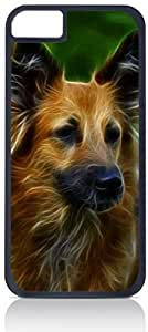 Dog Art- Case for the Apple Iphone 4-4s Universal- Hard Black Plastic with Inner Soft Black Rubber Lining-Snap On Case