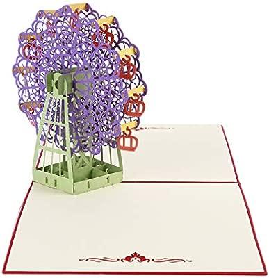 Yinew - Tarjeta de felicitación en 3D, gigante, pop up ...