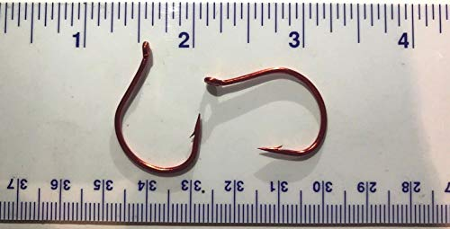 (Steven_store 50 430062 Finesse Red Wacky Worm Fishing Fish Hooks Size 4/0 Saltwater Freshwater Kayak Fishing)