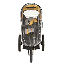Sasha Kiddie BT - 2R Baby Trend Velocity Matrix, ELX Single Swivel Front Wheel Jogging Stroller Rain and Weather Cover - Stroller Not Included