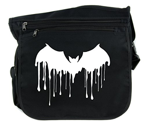 Blood Drip Vampire Bat Sling Messenger Bag Cross Body Handbag Gothic Alternative Clothing
