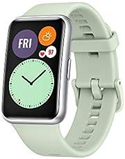 "HUAWEI Watch Fit- Reloj Inteligente, Pantalla AMOLED 1.64"", 4GB, Bluetooth, Correa de Silicona Verde"