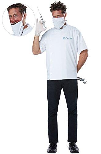California Costumes Men's Dr. Novocaine Costume, White, Small/Medium