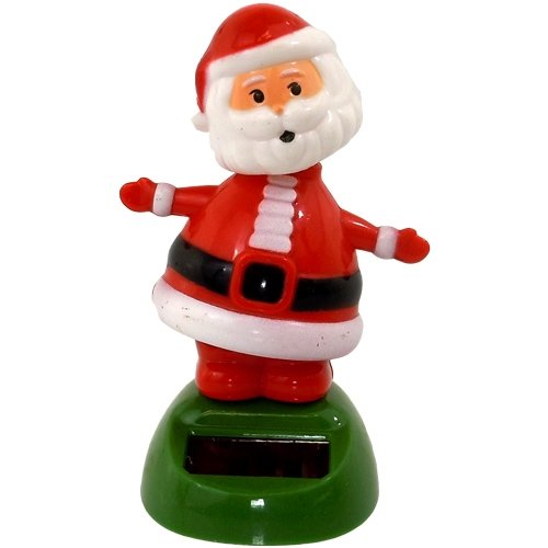 Solar Power Motion Toy - Santa Claus (Head Santa Bobble)