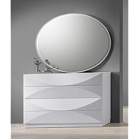 Milan Montreal Gloss White 8 Drawer Dresser