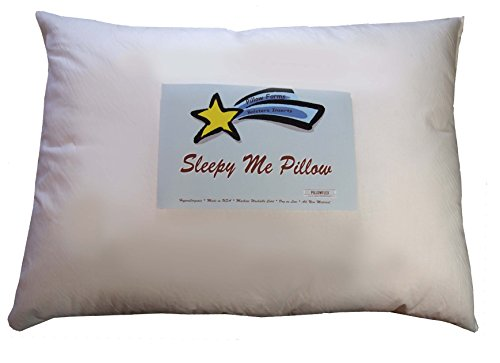 Sleepy Me 13x19 Toddler Sleep and Cuddle Pillow - Comfy Soft Synthetic Faux Down Alternative Allergy Free Hypoallergenic - Neck Support for Kids or Adults