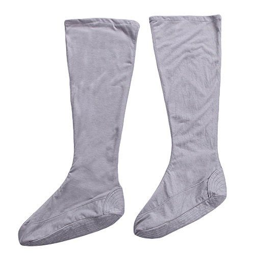 ZooBoo Cotton Buddhist Monks Socks Shaolin Taiji Wudang Taoist Socks Kung Fu Legging Pairs for Training Uniform Robe (38, Gray)
