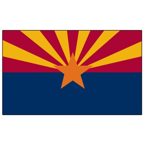 Online Stores Arizona 3ft x 5ft Printed Polyester Flag 3X5 3 X 5 Banner 3x5 3 x 5 ()