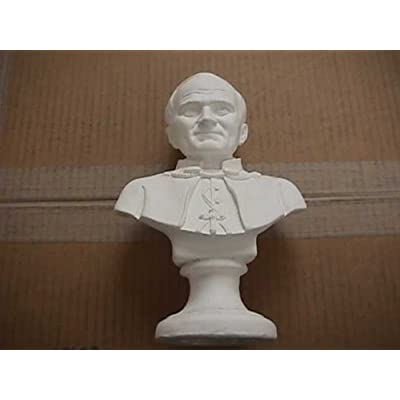 "Plastercraft unpainted use acrylic paint Pope John Paul II bust 9.5""h 6""w: Toys & Games"