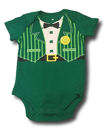 ST. Patricks Day Irish Baby Onesie Creeper Bodysuit Shamrocks Rainbow Leprachaun (Leprachaun Suit, 0-3M)