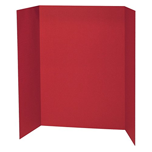 "Pacon PAC3770BN Presentation Board, Red, Single Wall, 48"" x 36"", Pack of 6"