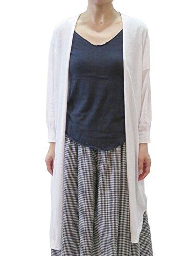 [mao made (マオメイド)]ハイツイストコットンニットロングカーディガン 821131