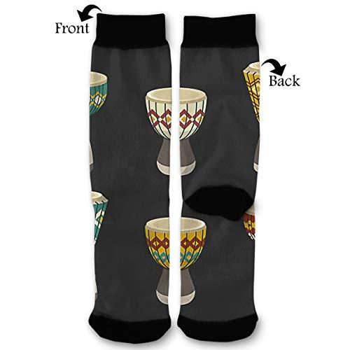 (Socks Djembe Drum Ethnic Funny Fashion Novelty Advanced Moisture Wicking Sock for Man Women)