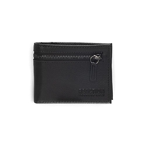 Kenneth Cole Zipper Wallet (Kenneth Cole REACTION  Men's  RFID Security Blocking Slimfold Wallet,Black with Zipper)