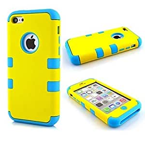 get Fresh Style 3 in 1 Composite PC Full Body Case for iPhone 5C(Assorted Colors) , Red