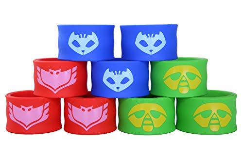 The Mass Superhero Slap Bracelet for Kids Boys & Girls Birthday Party Supplies Favors (9 Pack) (Assorted 9 Pack) ()