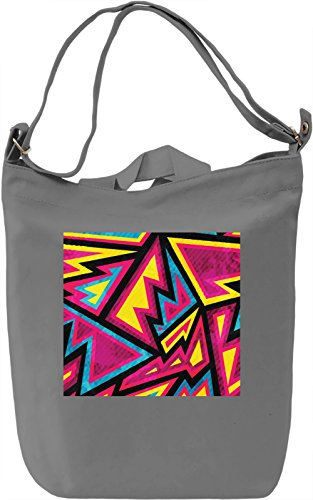 Modern Pattern Borsa Giornaliera Canvas Canvas Day Bag| 100% Premium Cotton Canvas| DTG Printing|