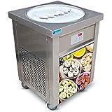 US Snack Commercial Food Machine ETL 110V 55cm Single Round ice pan Fry ice Cream Machine Fried ice Cream Machine roll…