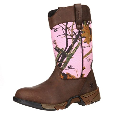 Womens-Rocky-Aztec-Pink-Camo-Hunting-Boots