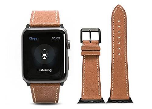 Apple-Watch-BandCalf-leather-Brown-fit-42mm-Watch-Strap-with-Polished-Pin-buckle