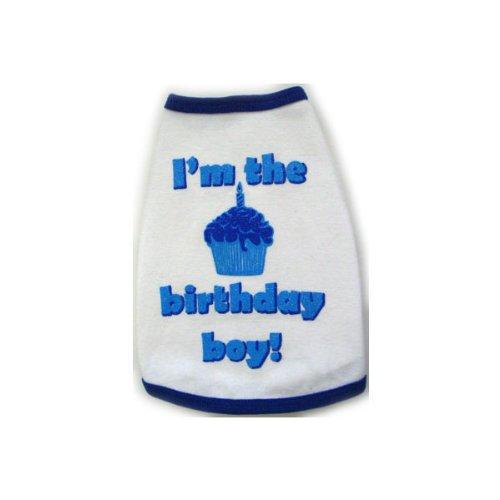 I See Spot's Dog Pet Cotton T-Shirt Tank, Birthday Boy, Small, White