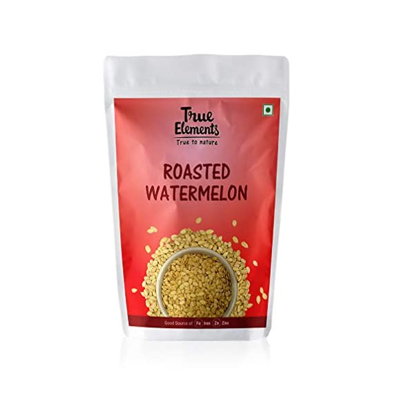 True Elements Roasted Watermelon Seeds for Eating 125 gm