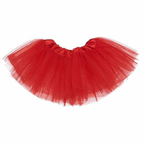 My Lello Baby 5-Layer Ballerina Tulle Tutu Red (0-3 mo.)]()