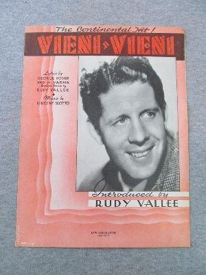 Vieni-Vieni [Sheet Music, Rudy Vallee ()