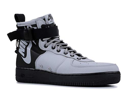 Nike SF Air Force 1 Mid Mens Hi Top Trainers 917753 Sneakers Shoes (UK 9.5 US 10.5 EU 44.5, Wolf Grey Black 009) (Air Force 1 Hi)