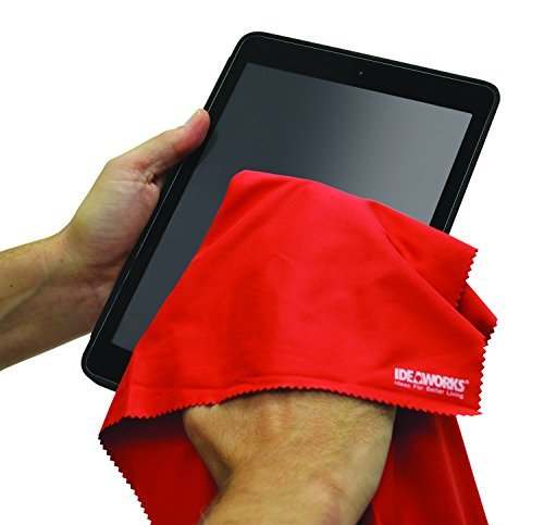 12 Piece Premium Microfiber Cleaning Cloths - For Tablet, Cell Phone, Laptop, LCD TV Screens and Any Other Delicate Surface by IdeaWorks