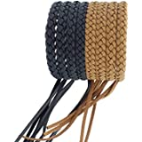 Kinven Original Mosquito Insect Repellent Bracelet Waterproof Natural DEET FREE Insect Repellent Bands, Anti Mosquito Protection Outdoor & Indoor, Adults & Kids, 8 bracelets, in Brown/Black