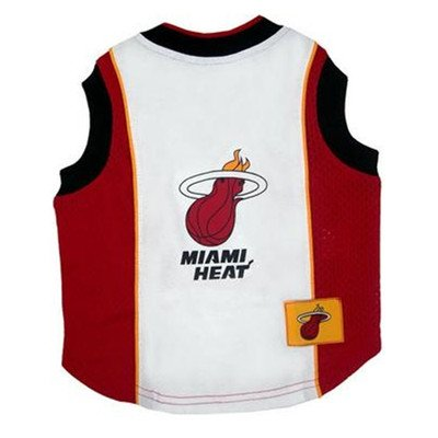 NBA Dog Jersey Size: Small (11'' H x 9'' W x 0.5'' D), NBA Team: Miami Heat by DoggieNation
