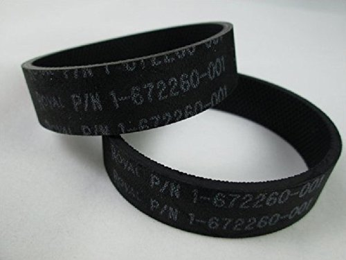 Royal Metal Upright Vacuum Cleaner Knurled Belts 2 Pk Genuine Part # 1672260001