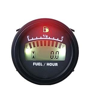 runleader rl-fm001LCD mediante corriente de CC medidor de nivel de combustible para moto Jet Ski Marino Pit Bike Moto Generador Motor
