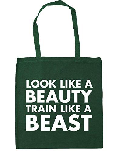 Shopping x38cm Bottle a look 10 Gym a beauty Bag like Green HippoWarehouse 42cm Beach litres Tote train like beast zqwA6AnT