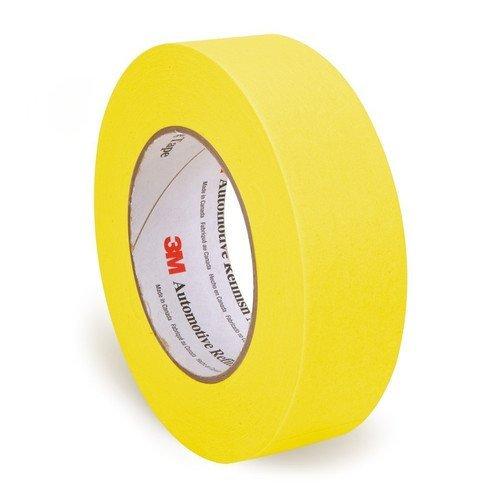 3M 6654 24-Cs 1.5 in. Gold Tape Automotive Refinish Masking Tape, 36 Mm X 55 M