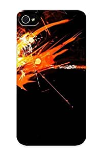 meilinF000iphone 4/4s Case, Premium Protective Case With Awesome Look - Orange Sparks And Flames (gift For Christmas)meilinF000