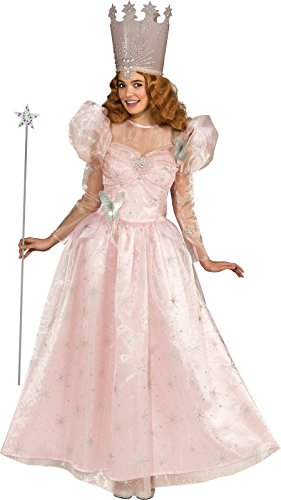 Rubie's Costume Wizard Of Oz Deluxe Adult Glinda The Good Witch with Dress and Crown, Pink, Adult One (Glinda Wizard Of Oz Halloween Costume)