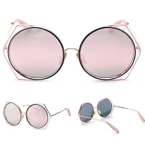 De Gafas Gafas Moda Frame De 4 De Sol Cool Summer Sunglasses Sol Metla WANGKEAI 4 Blue Hombres Redondas Poligonales gwI1qwz
