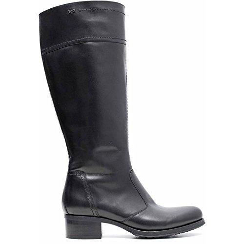 Stiefel Damen Leder Schwarz a616450d-100–Schwarz Garten