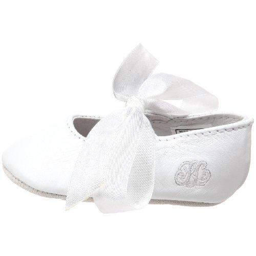 Ralph Lauren Layette Briley Ballet Crib Shoe (Infant/Toddler),White Lambskin,3 M US Infant - Image 5
