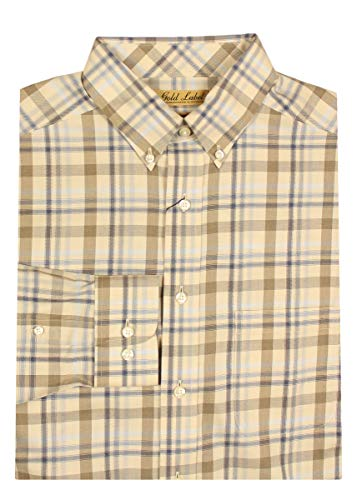(Gold Label Roundtree & Yorke Non-Iron Wrinkle-Free Men's Big Tall Dress Shirt (LT, Khaki Heather))