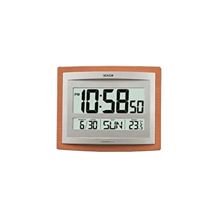 RELOJ DE PARED DIGITAL CASIO CON ALARMA, TEMPERATURA Y CALENDARIO ID-15S-5DF