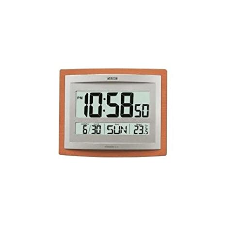 RELOJ DE PARED DIGITAL CASIO CON ALARMA, TEMPERATURA Y CALENDARIO ID-15S-5DF: Amazon.es: Hogar