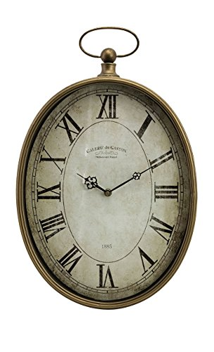 Imax 27476 Toledo Clock – Oversized Antique Pocket Watch, Vintage Inspired Timepiece, Handcrafted Clock for Bedroom, Livingroom, Study Room. Wall Clocks Review