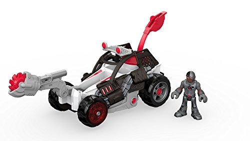 Fisher-Price Imaginext Streets of Gotham City Cyborg & Saw Buggy Action Figure (Cyborg Dc Action Figure)