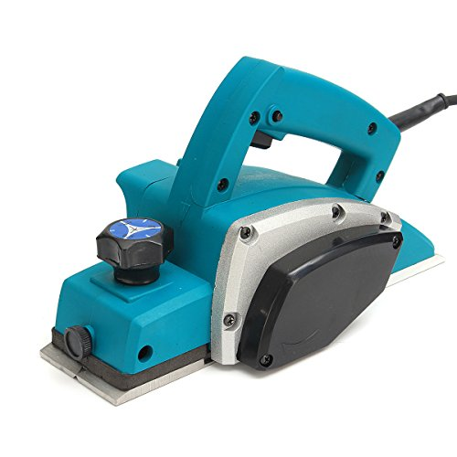 HITSAN 220V 800W Powerful Electric Wood Planer Door Plane Hand Held Woodworking Surface US Plug One Piece by HITSAN
